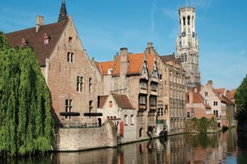 Férias de barco na Bélgica, Bruges e Gent